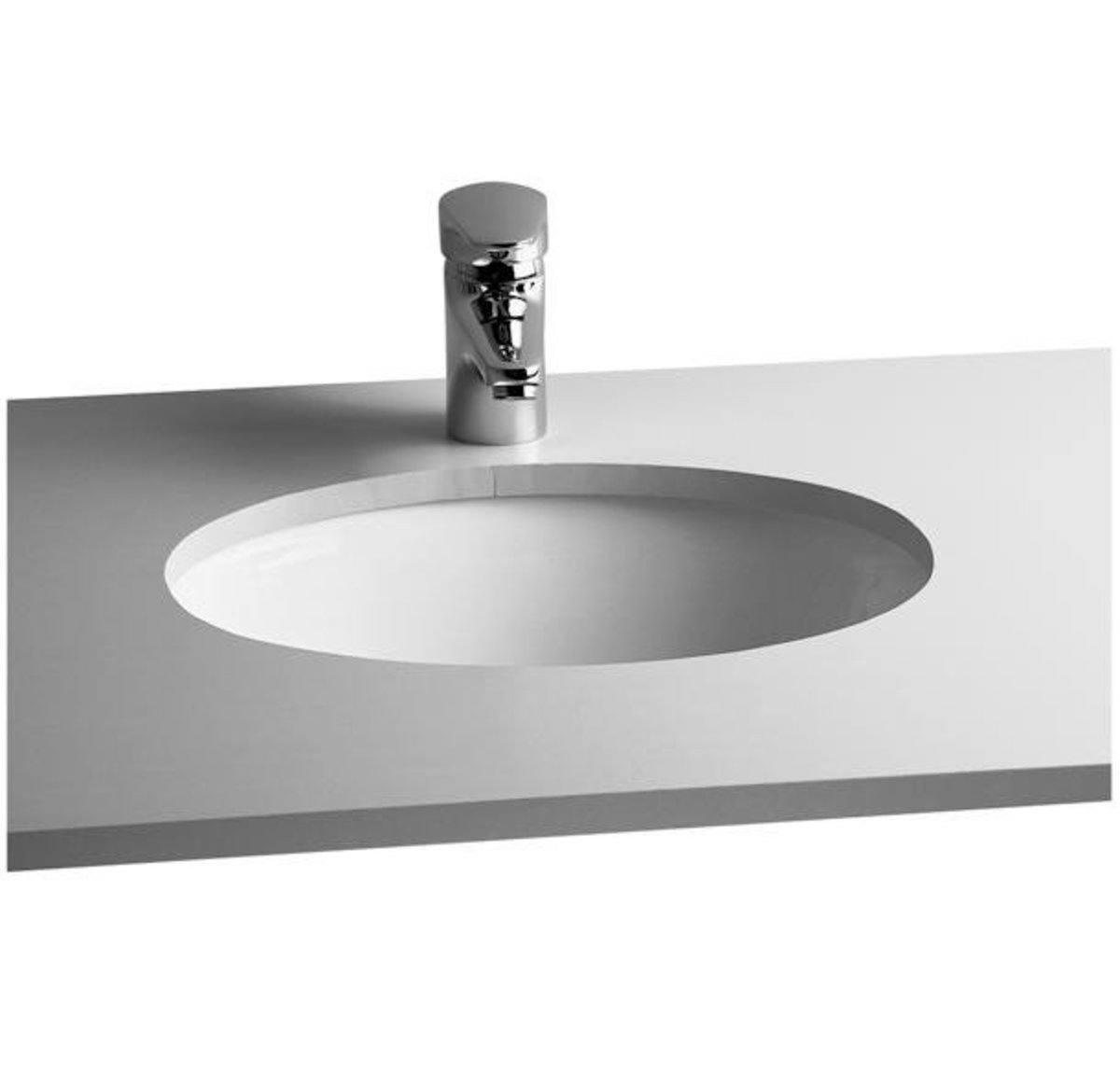 S20 BATHROOM UNDERCOUNTER BASIN 42 CM - WHITEDIMENSION : 470 X 380 X 190 MM