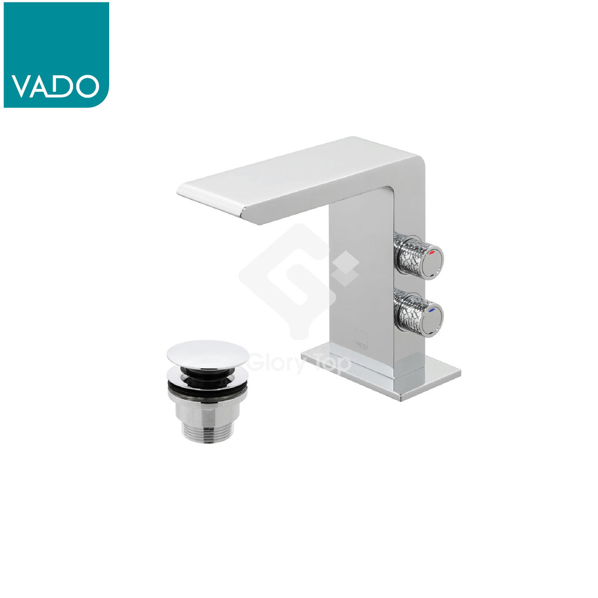 UK 'OMIKA' Deck Mounted Basin Mixer with wastes fitting