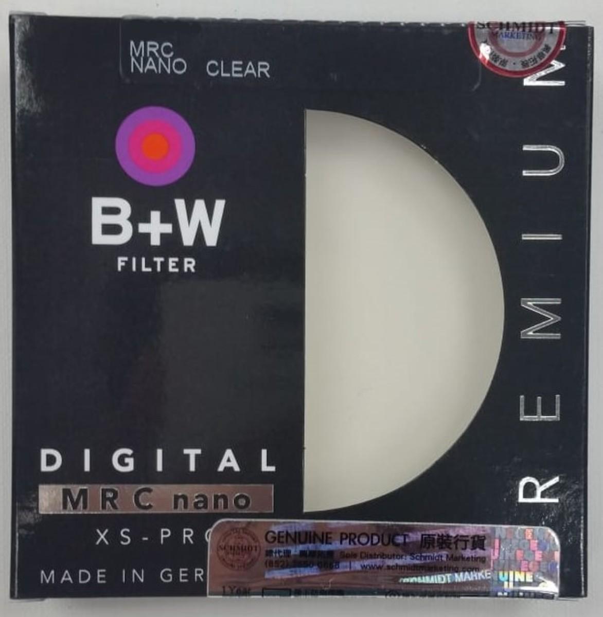 55mm XS-Pro Digital 007 Clear filter MRC nano Protector頂級保護鏡