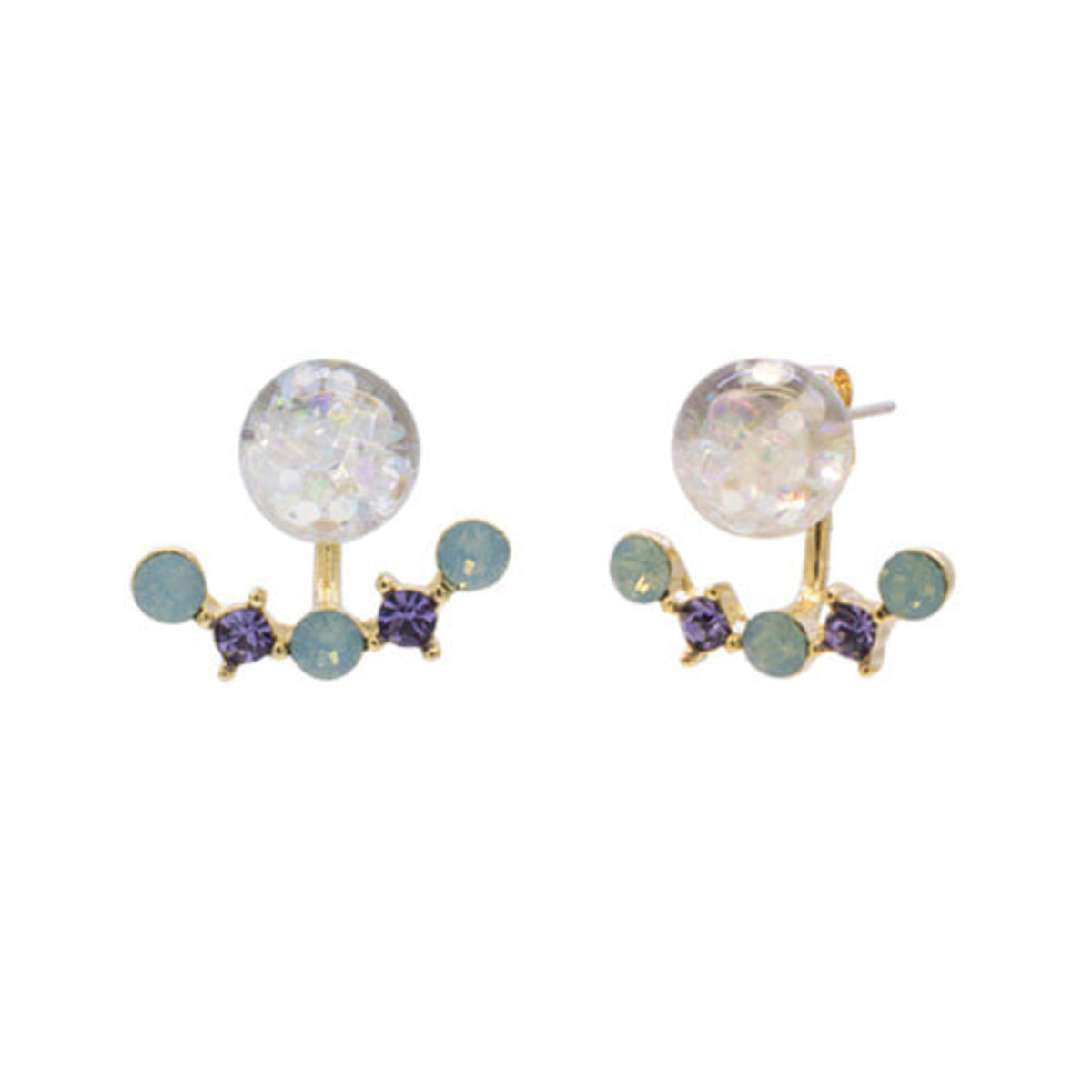 Luvly 2way Snowball Eearrings