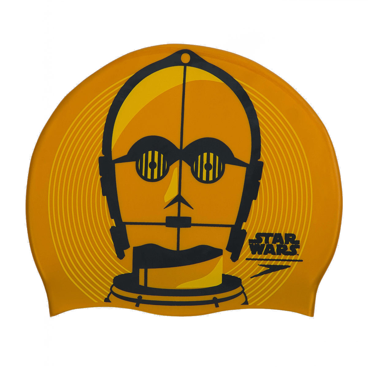 Star Wars C3PO Adult Swim Cap-Gold / Grey