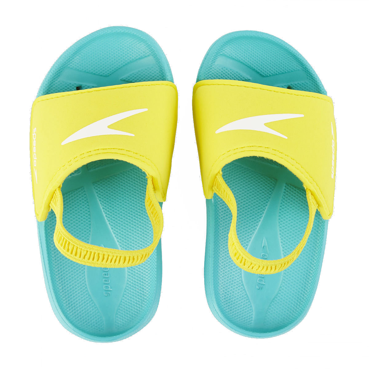 Atami Sea Squad Infant Slides-Blue / Yellow