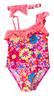 Kids Bloom 1 Pc Swim Suit with Headband-Pink