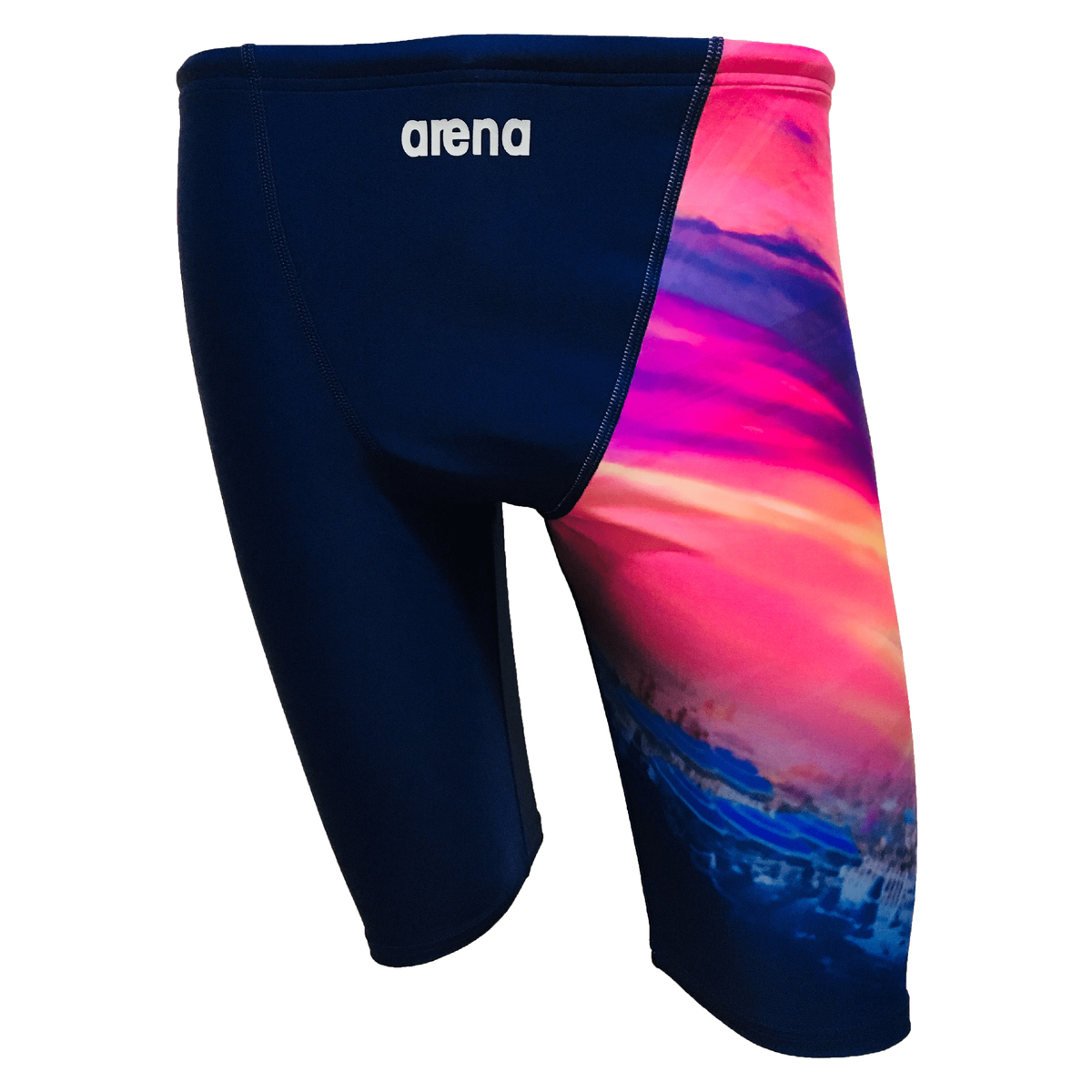 男士五分泳褲 - 沙灘-深藍
