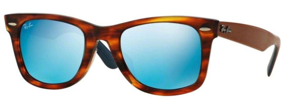 Sunglasses 0RB2140F striped havana