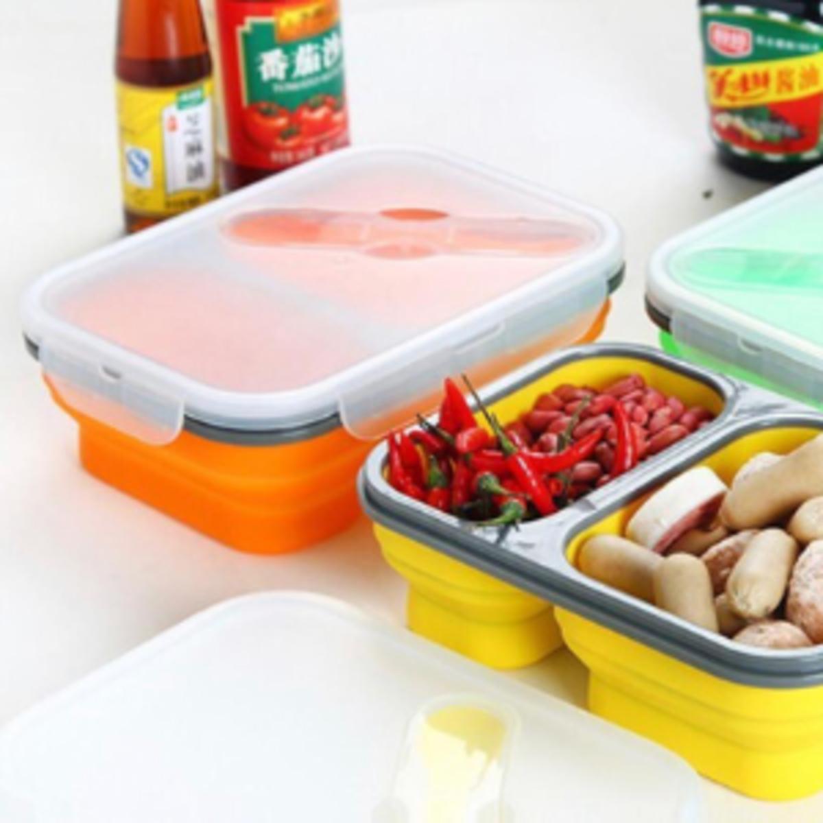 可折疊便於攜帶食物盒 (橙色)|無毒安全 耐高溫