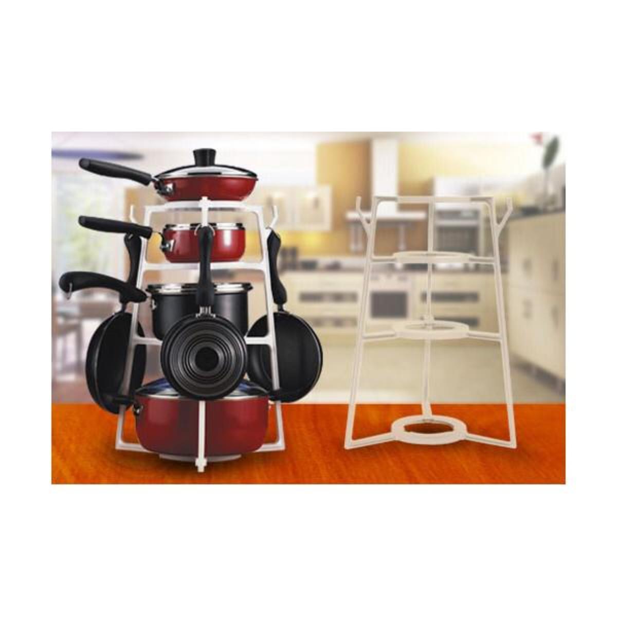 廚房置物四層鍋架 美國最新設計 安裝簡單方便 可承受60斤重量
