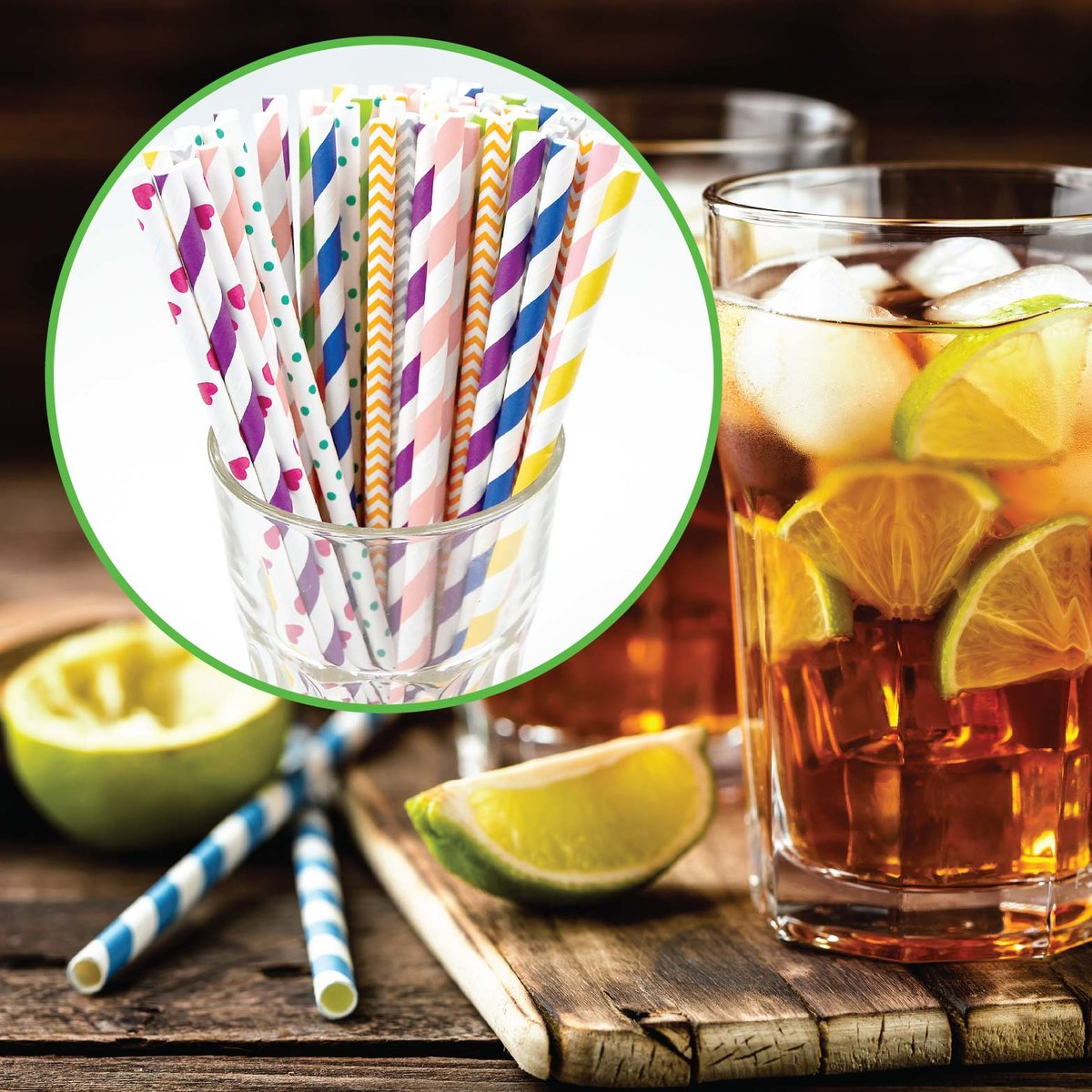 250 pcs Paper drinking tube straw