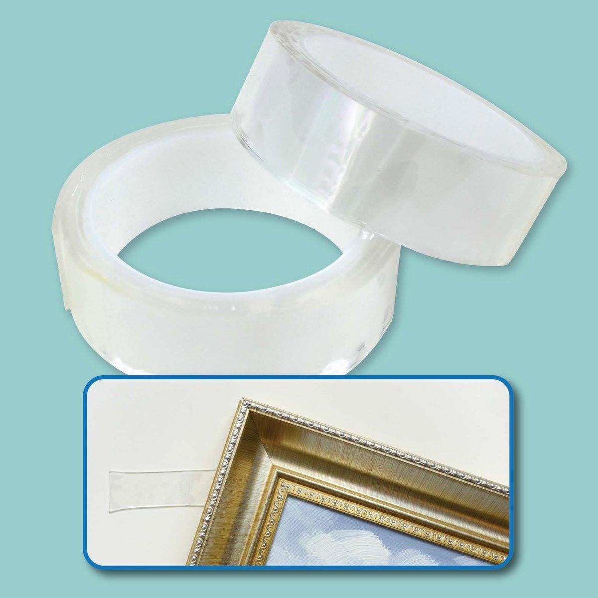 闊3cm 超強無痕多用途透明雙面膠帶