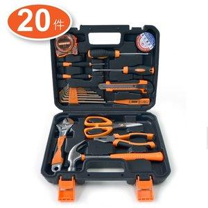 工匠師 20件家用工具套裝 連工具箱