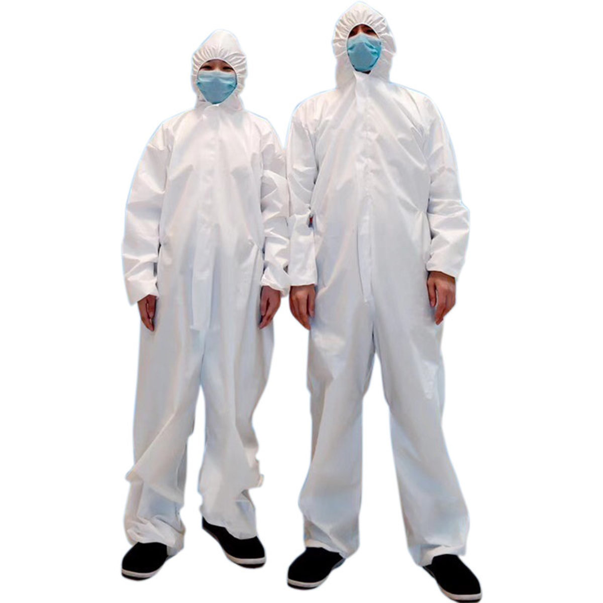 XL Size Disposable Isolation Gowns - White