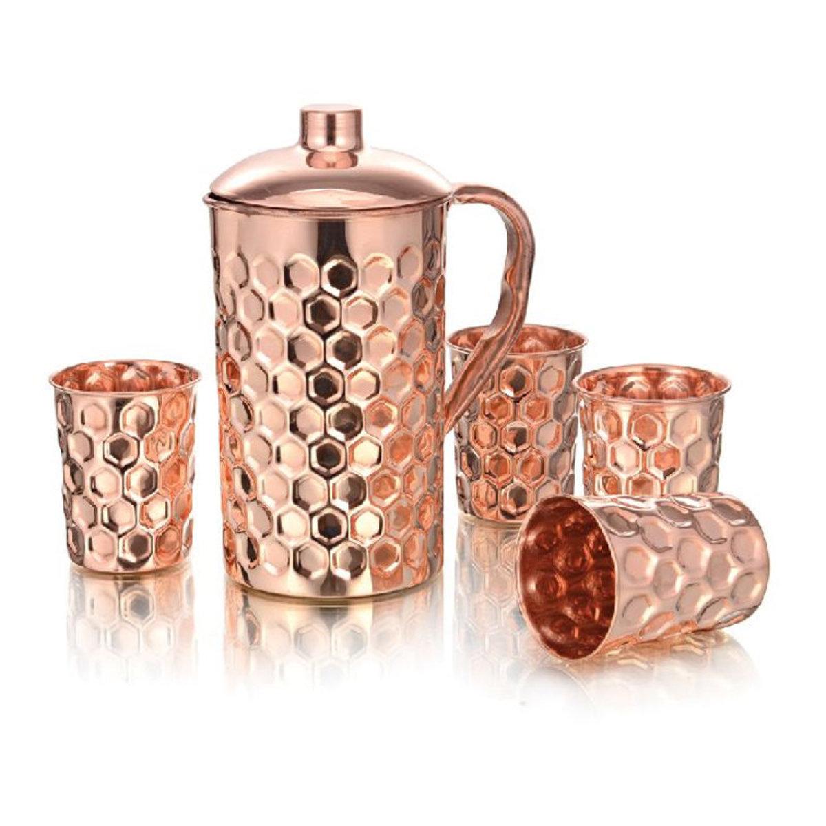 銅製5件套裝 (水壺連4隻杯)