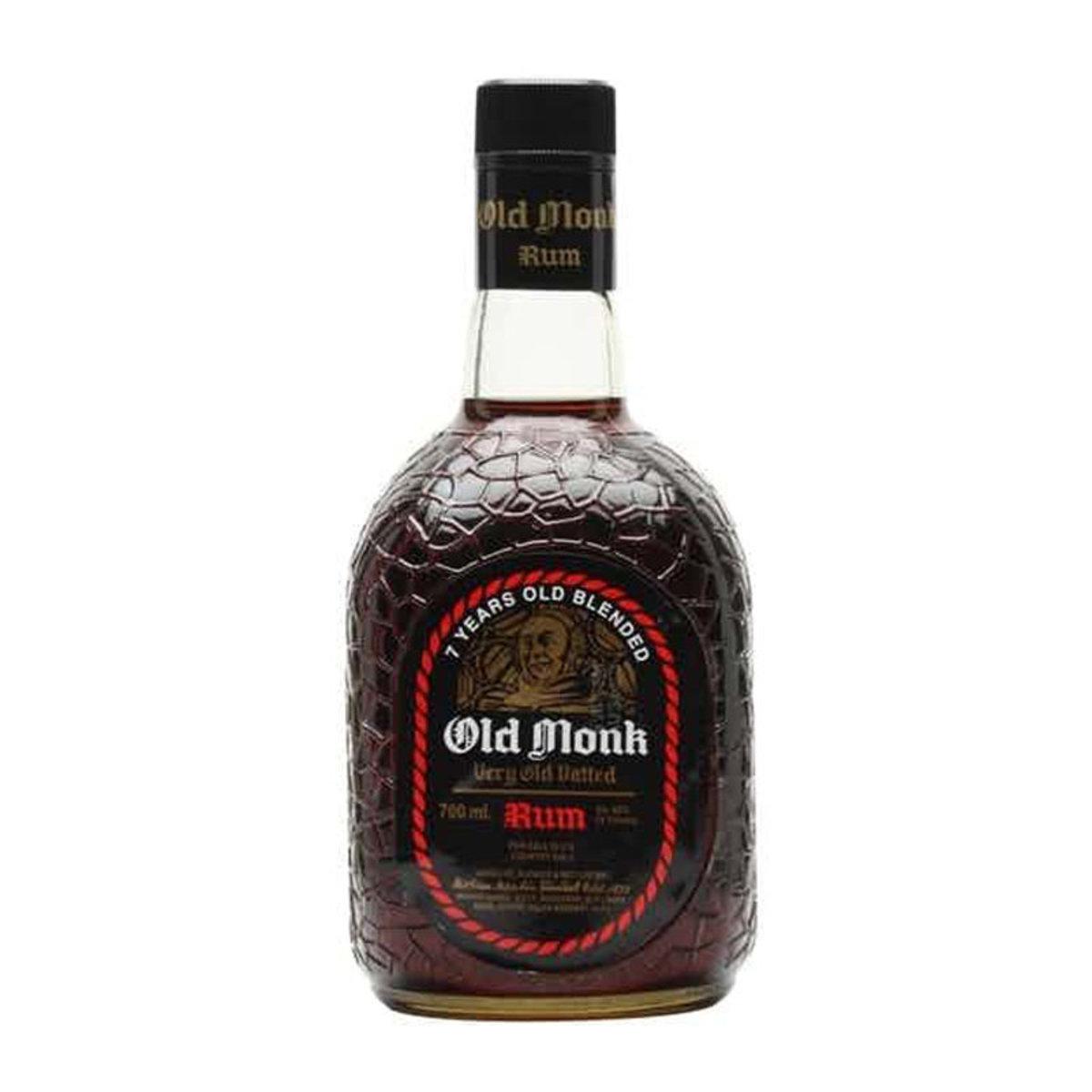 Old Monk Dark Rum 700 ml x 2