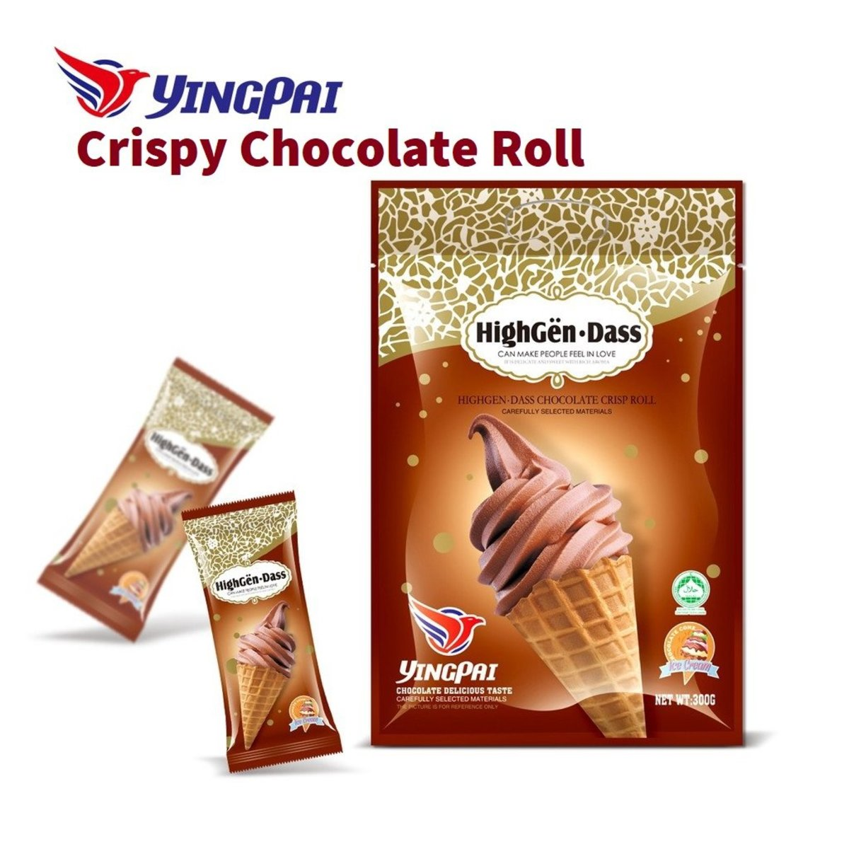 HighGen-Dass Crispy Chocolate Cone (300g)