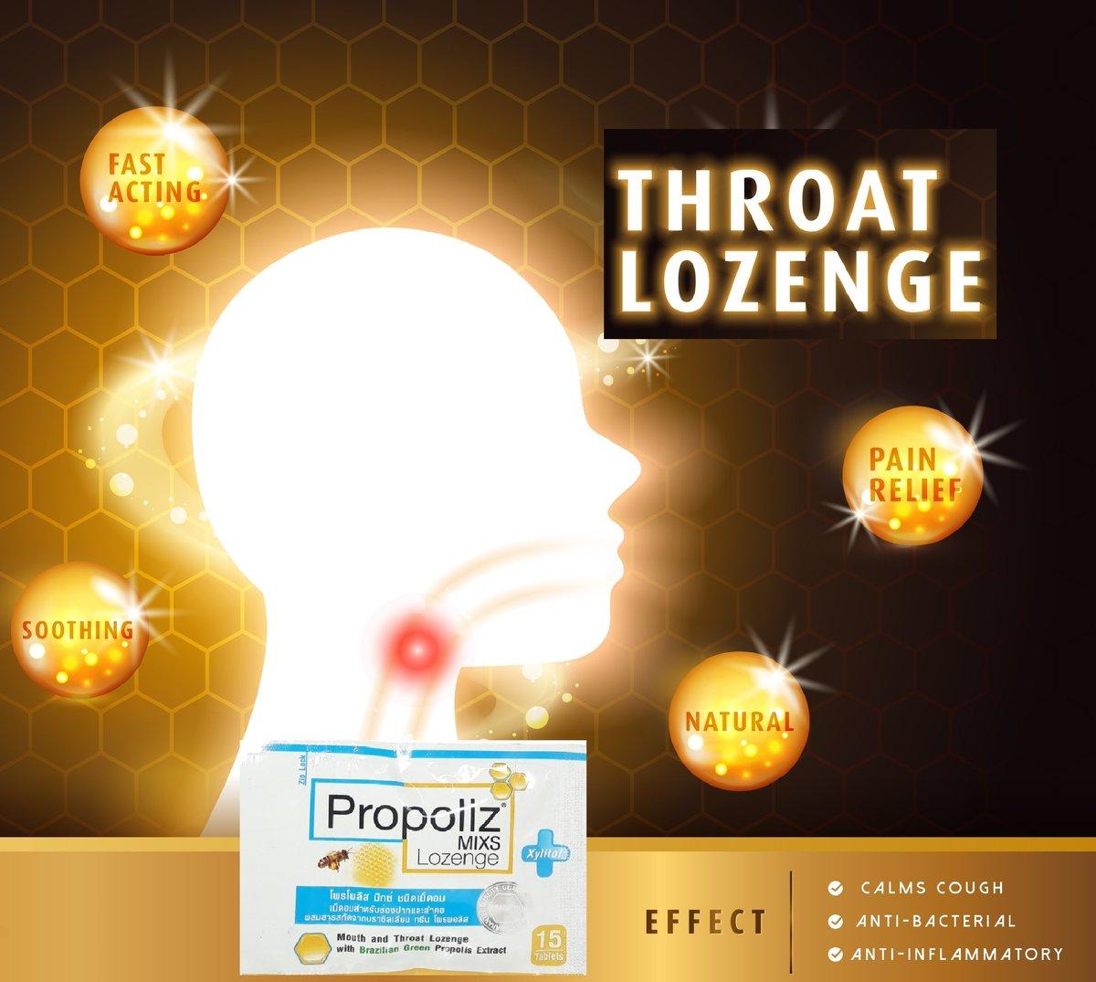 Propoliz Lozenge 15pcs (Parallel Import) Contains Propolis anti-bacterial and comfort sore throat