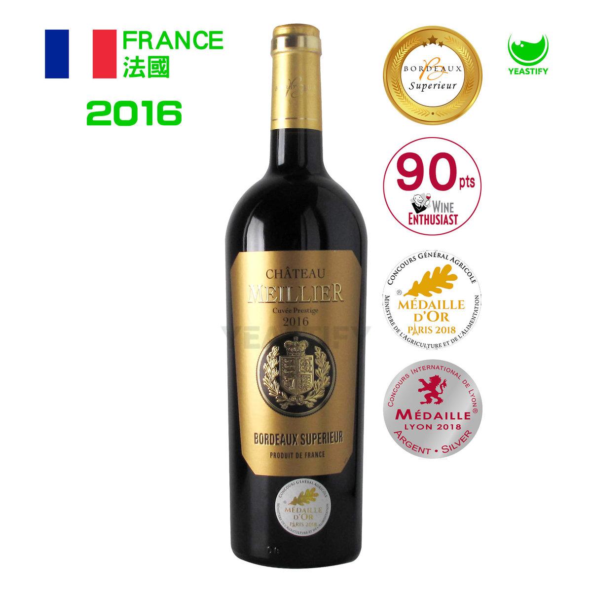 Meillier Bordeaux Superieur Red Wine 2016
