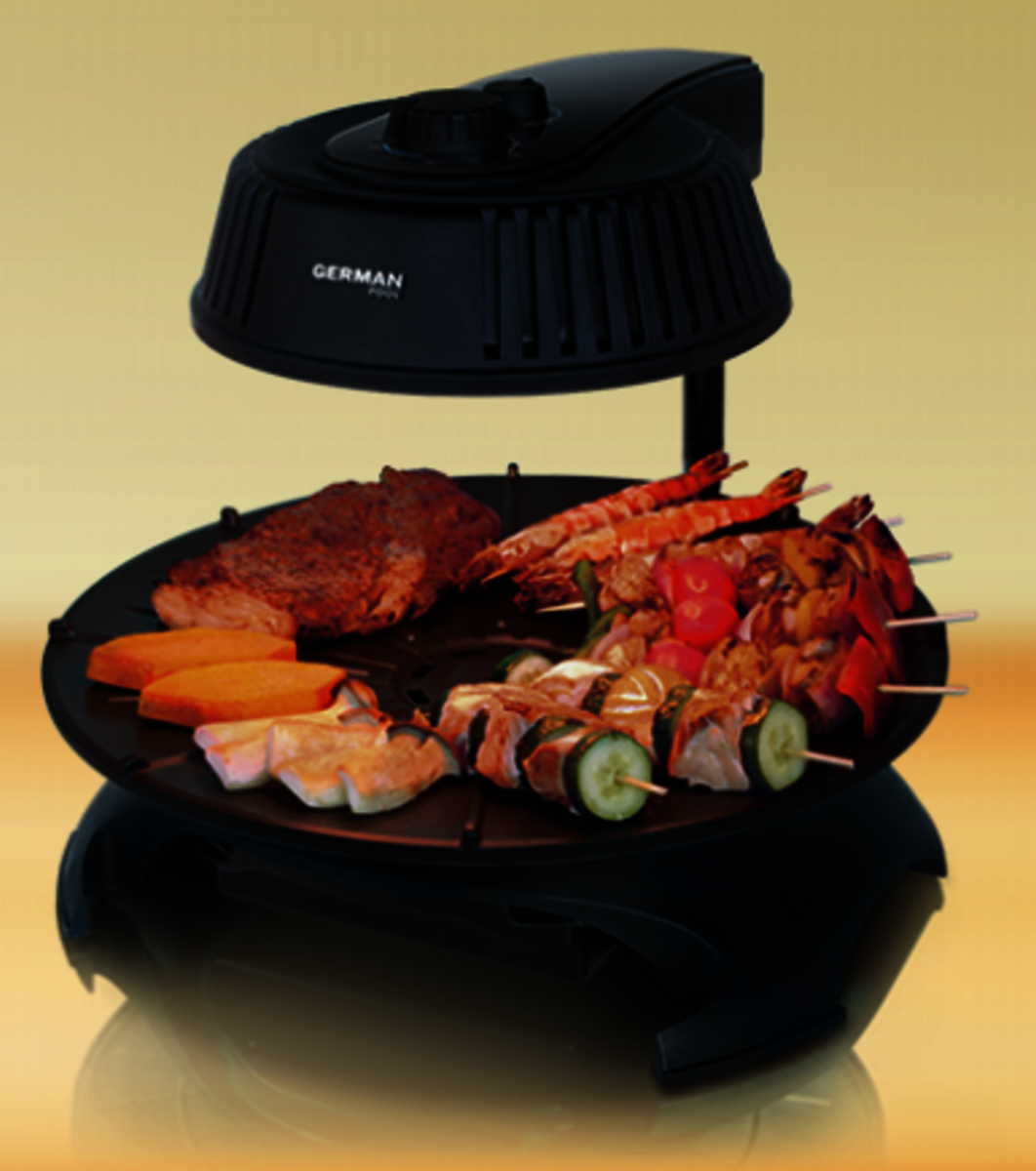 KQB114 360 automatic rotating Korean light wave grill