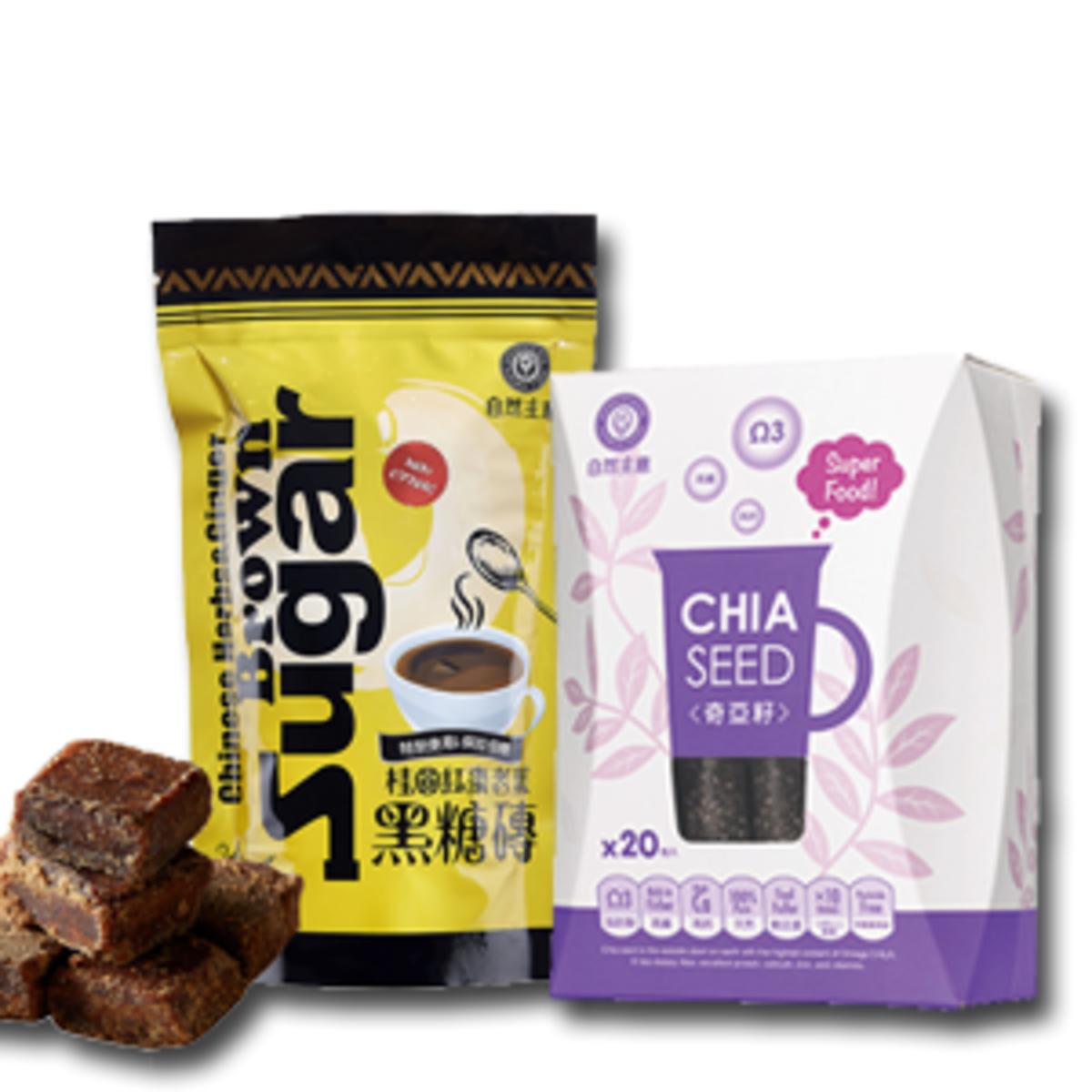 Chia Seed & Ginger Brown Sugar package