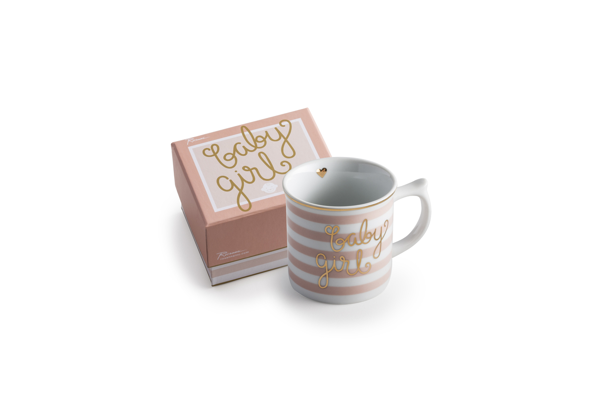 Mug Baby Girl in a Gift Box 6oz(Damaged with a little bit color)
