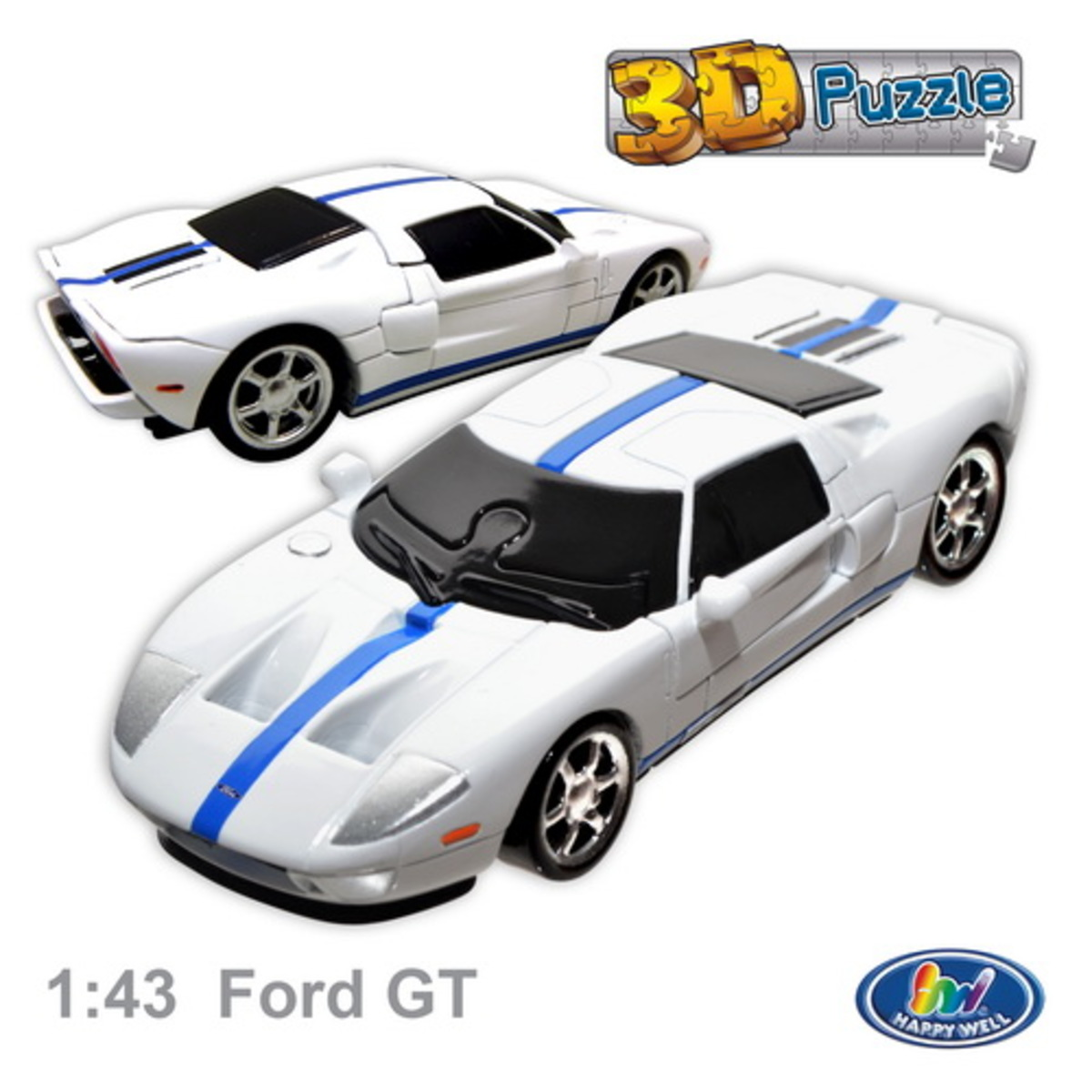 時款名車Ford GT 3Dpuzzle 立體砌圖