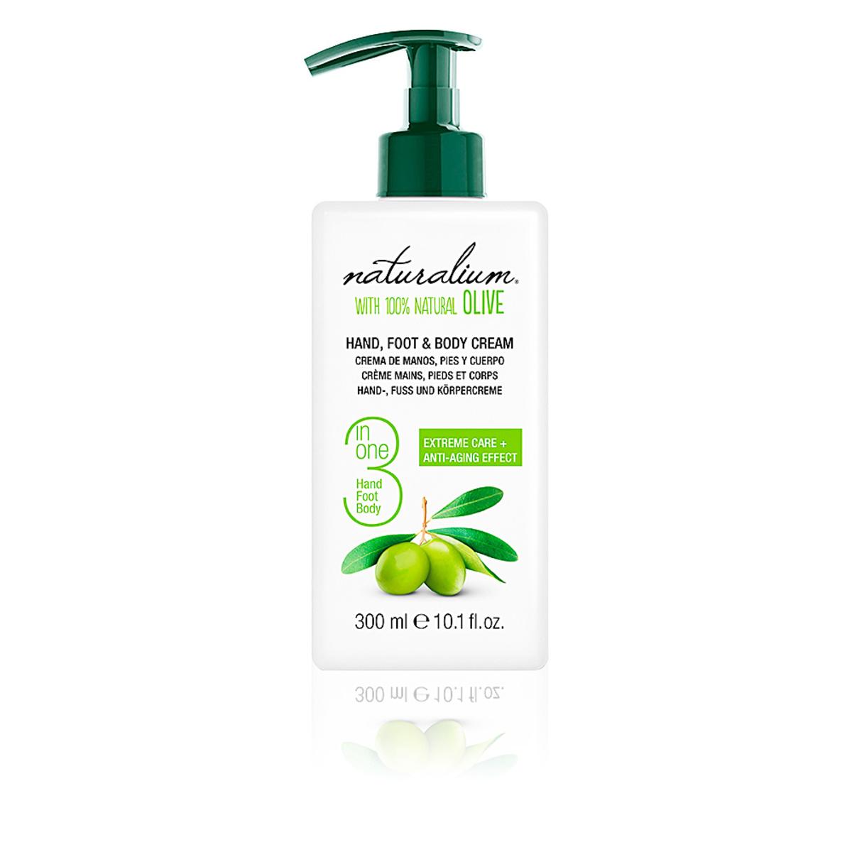 Naturalium Olive 3 in 1 Hand & Foot & Body Cream 300ml
