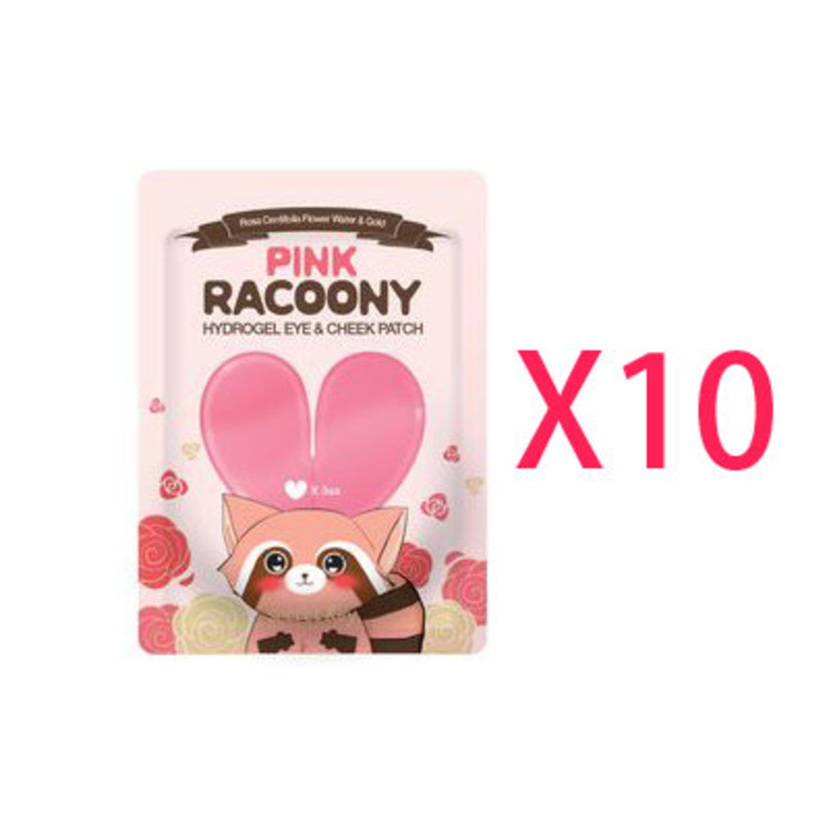 【Dealer Goods】Secret Key Pink Racoony Hydro-Gel eye and Check Patch x10