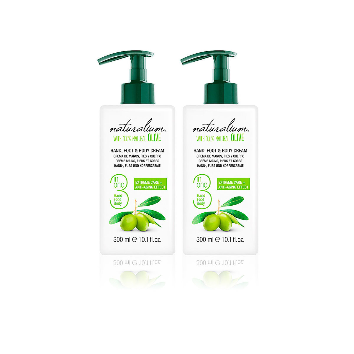 Naturalium Olive 3 in 1 Hand & Foot & Body Cream 300ml x2