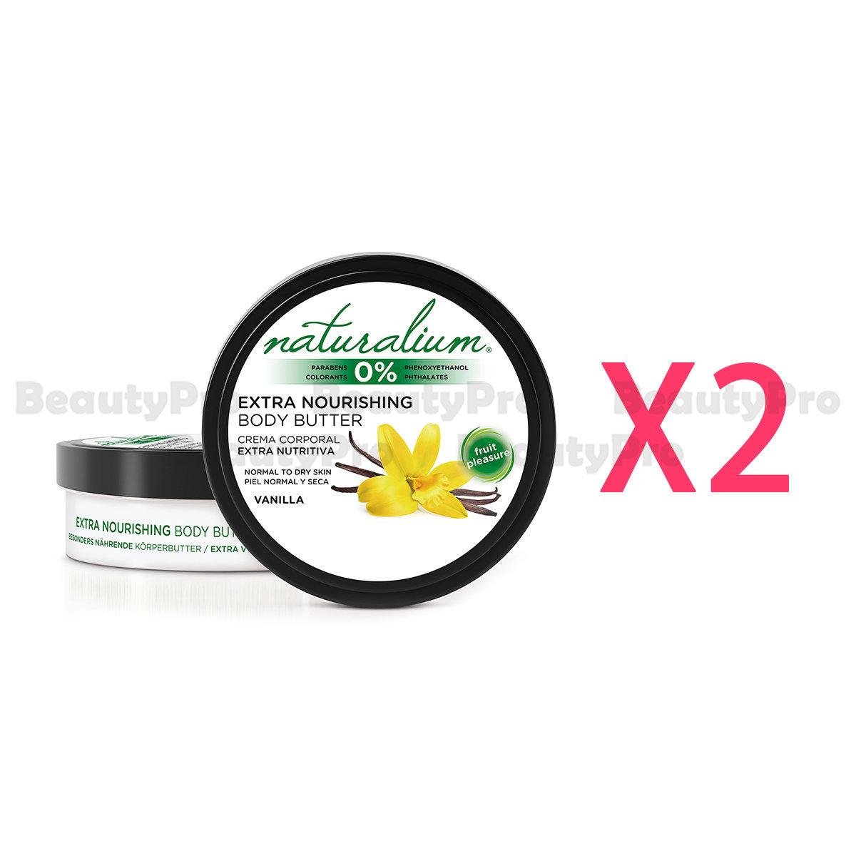 Naturalium Vanilla Body Butter 200ml x2