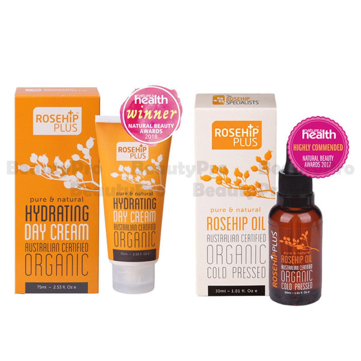 【Dealer Goods】RosehipPLUS Australian Certified Organic Rosehip Oil 30ml + day cream 75ml
