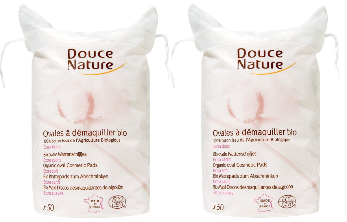 Organic Oval Cosmetic Pads (50 pcs) Set of 2 units