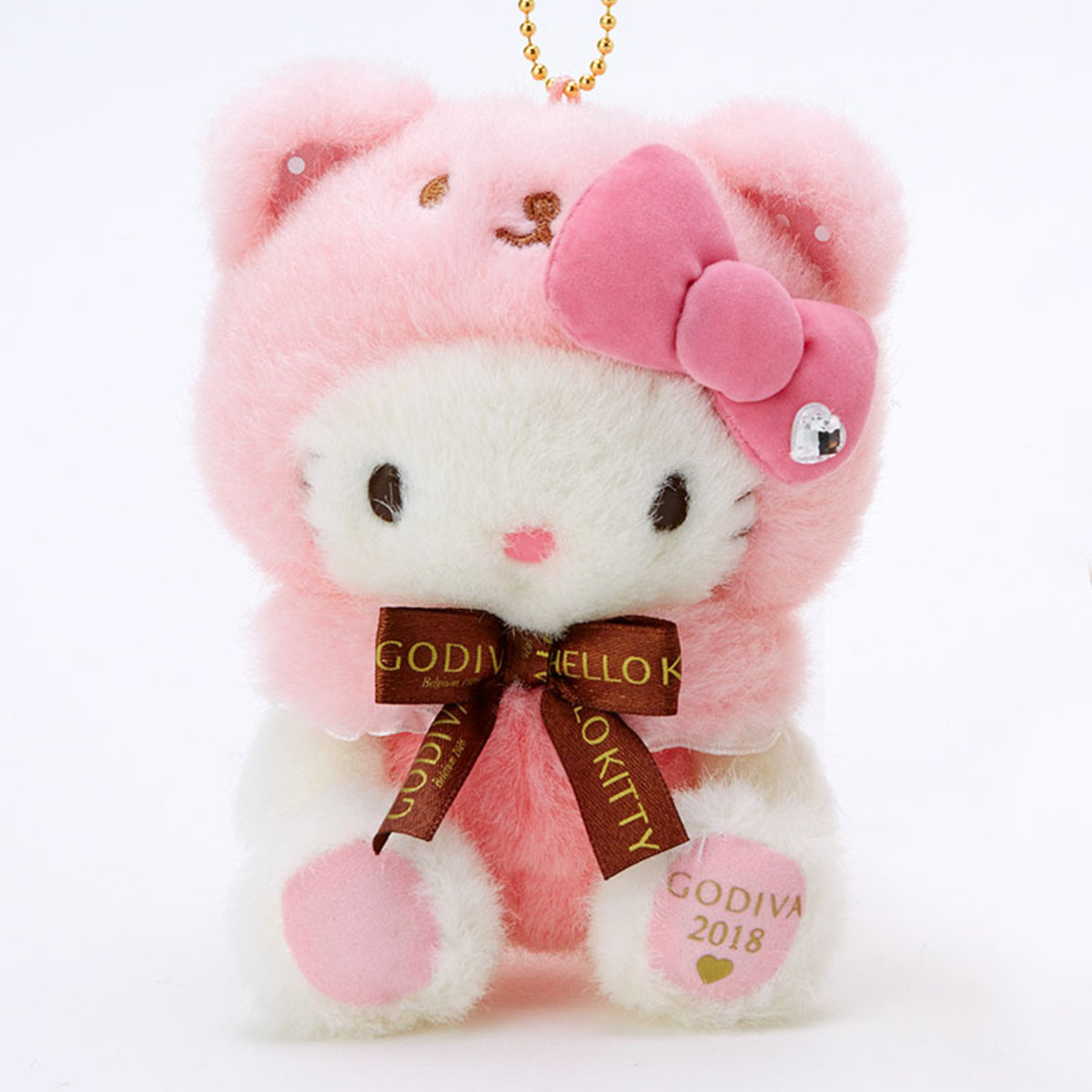 f06b92d35 SANRIO X GODIVA | Sanrio X GODIVA 2018 - Hello Kitty plush key ring ...