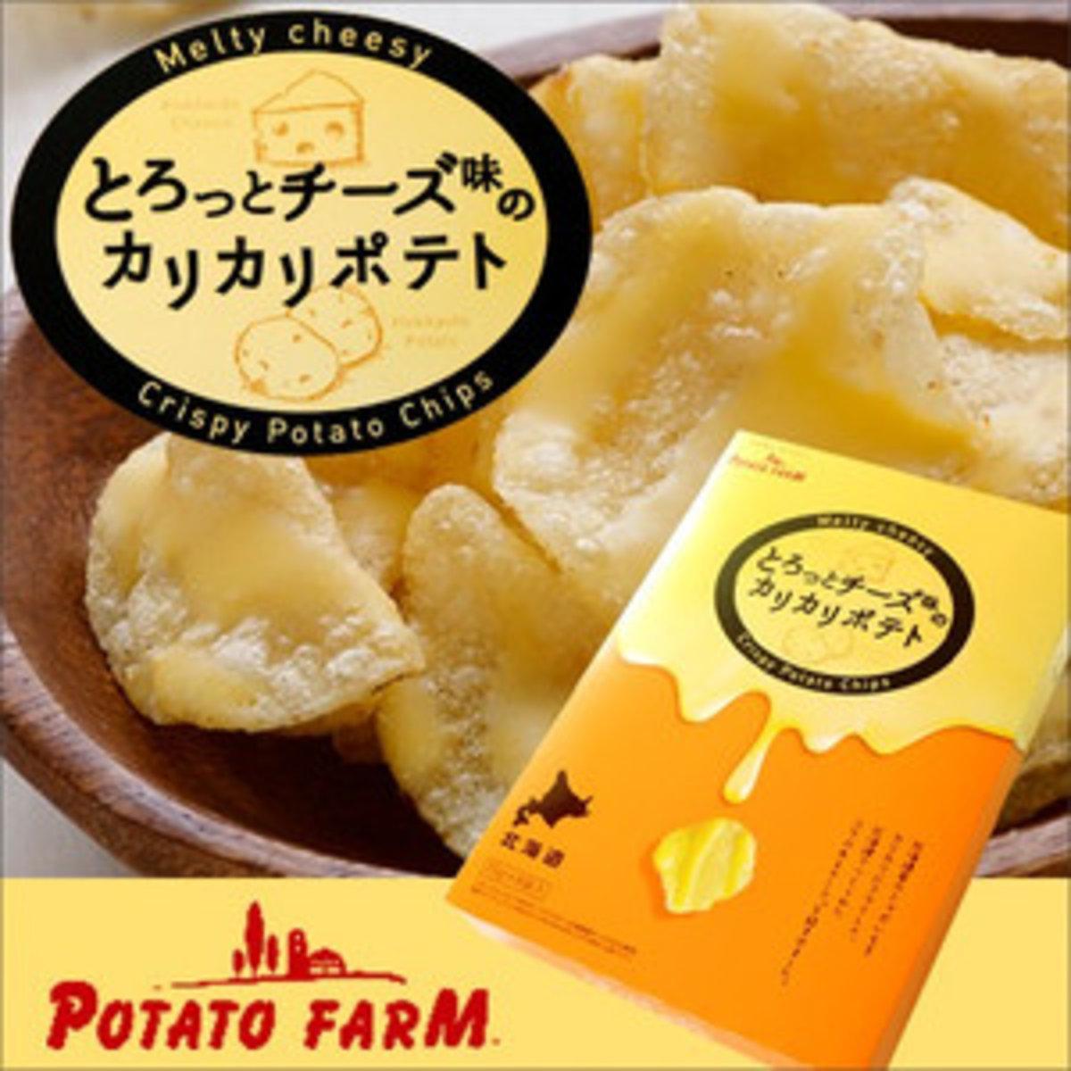 Japan Calbee Potato Farm Hokkaido Melty Cheesy Crispy Potato Chips (8 Packs) x 1 Box