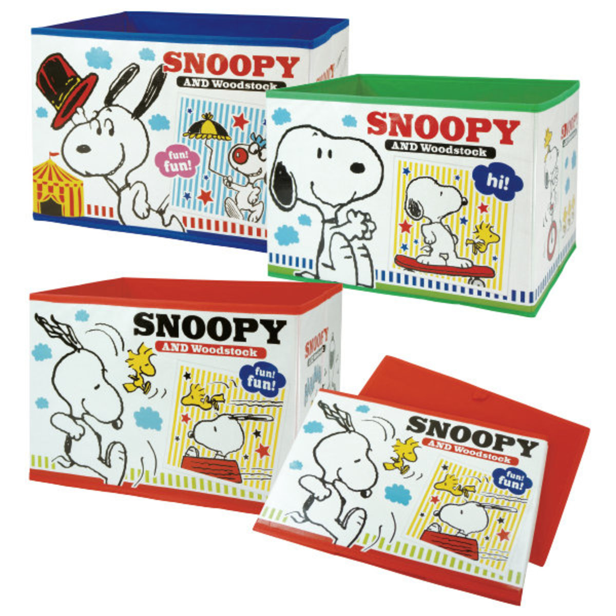 (1 set of 3 pcs) (Snoopy) Japan Collapsible Storage Boxes x 1 Set