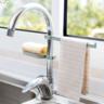 (灰綠色) 廚房浴室水龍頭瀝水架/抹布架