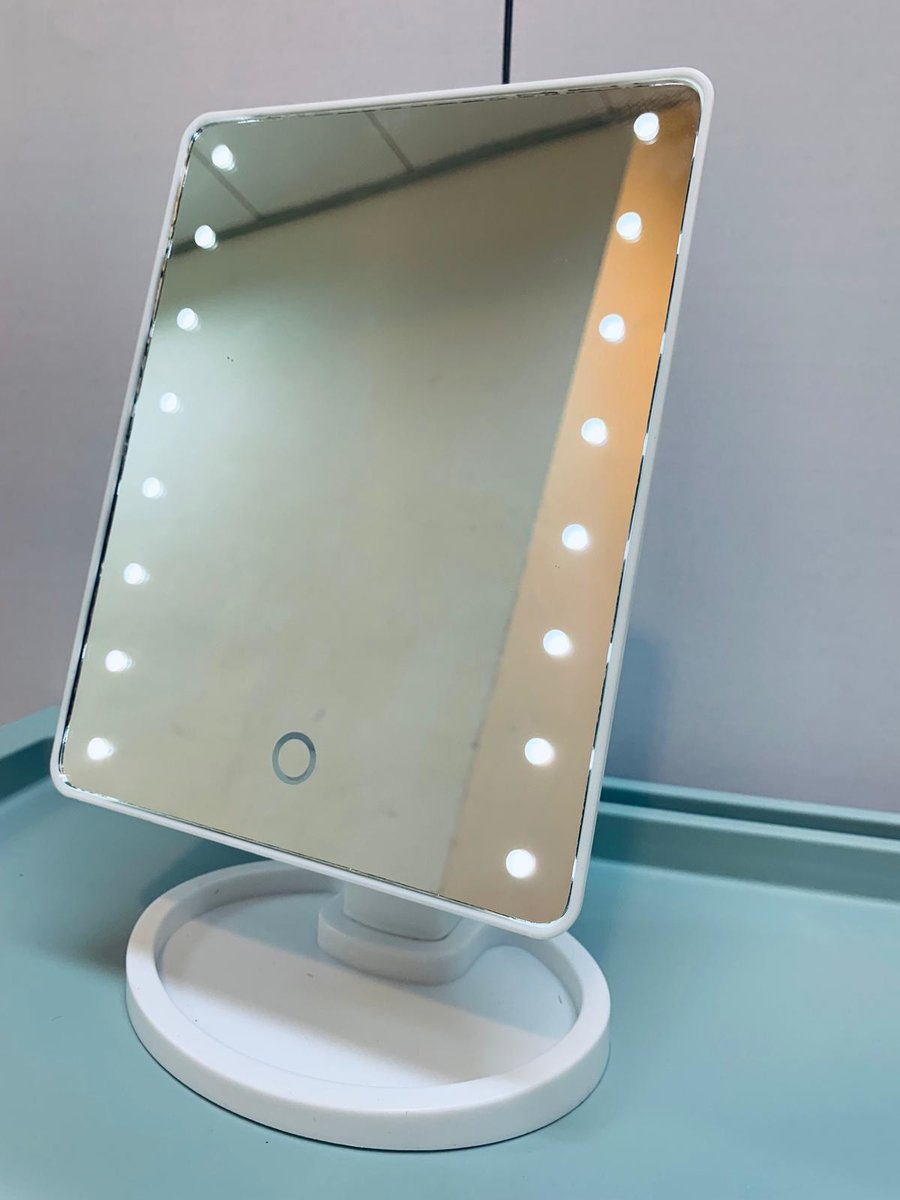 (White) Touch Screen LED Lighted Vanity Mirror