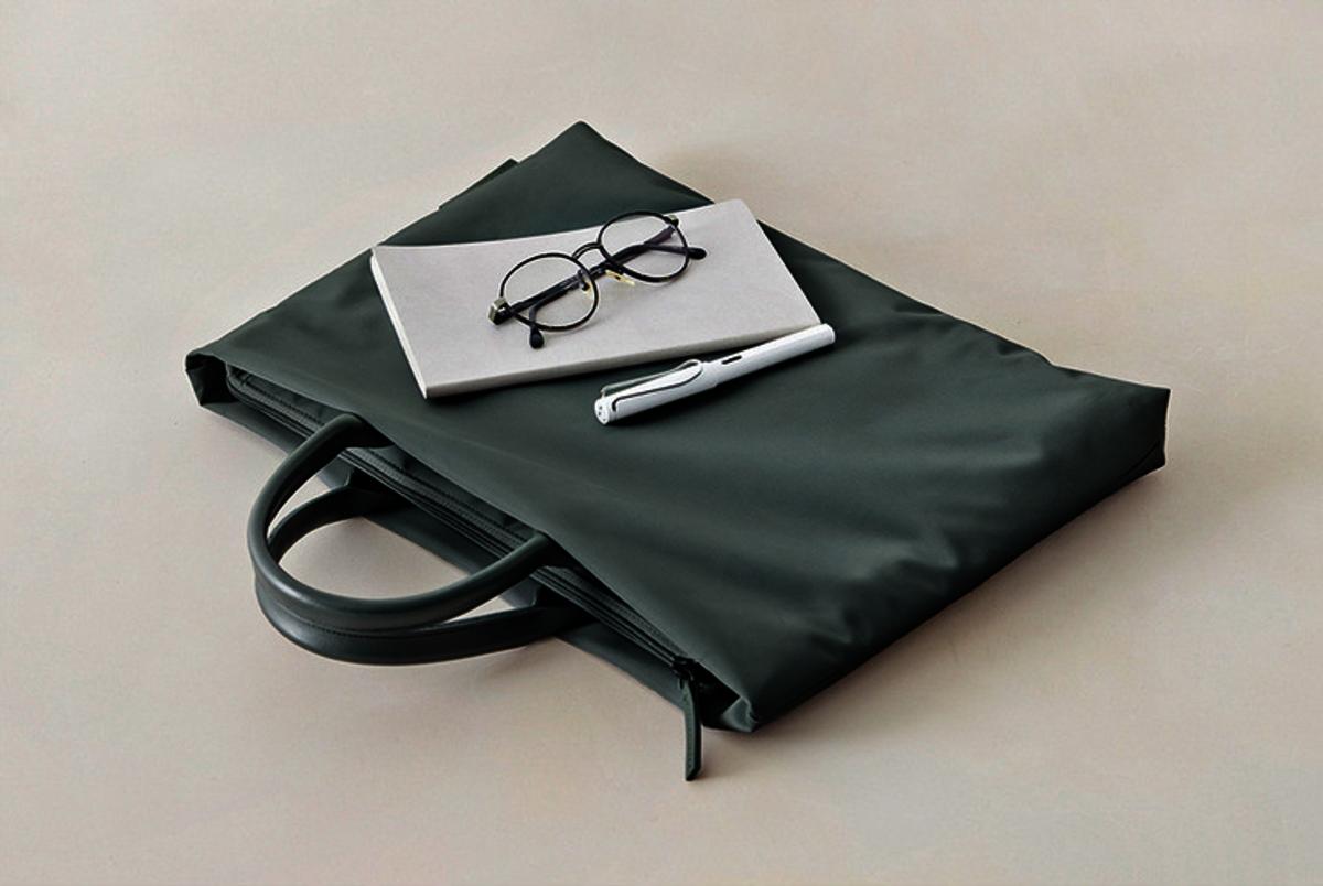(墨綠色) 簡約便攜15吋筆記型電腦防震保護手提袋
