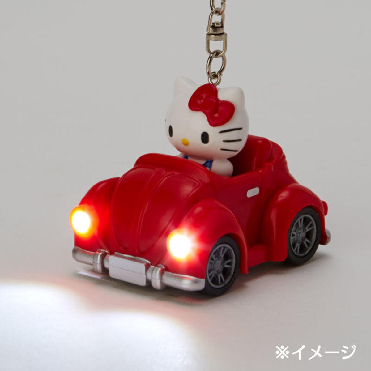 (Hello Kitty) 日本Sanrio可發光車頭燈鑰匙扣