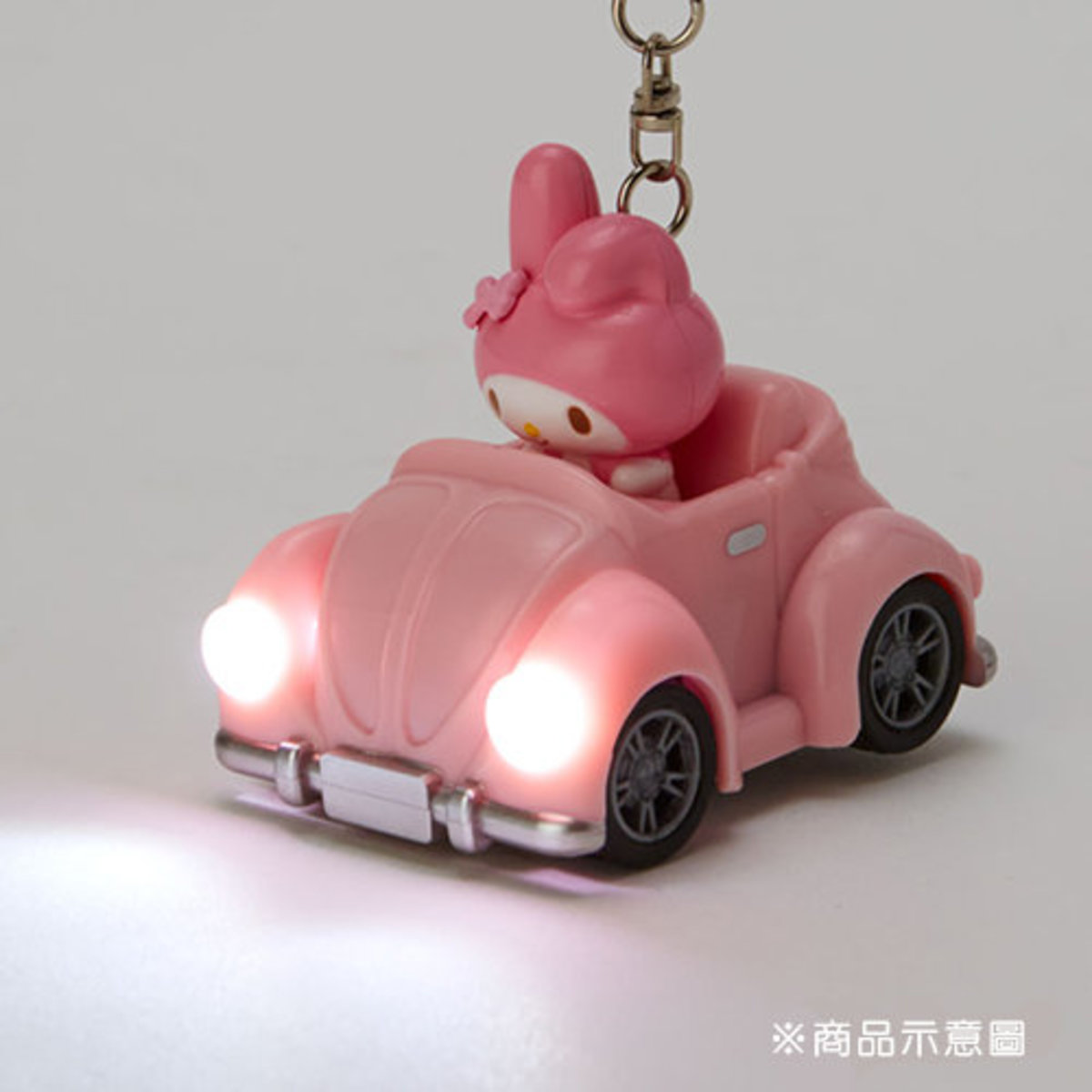 (My Melody) Japan Sanrio LED light toy car keychain