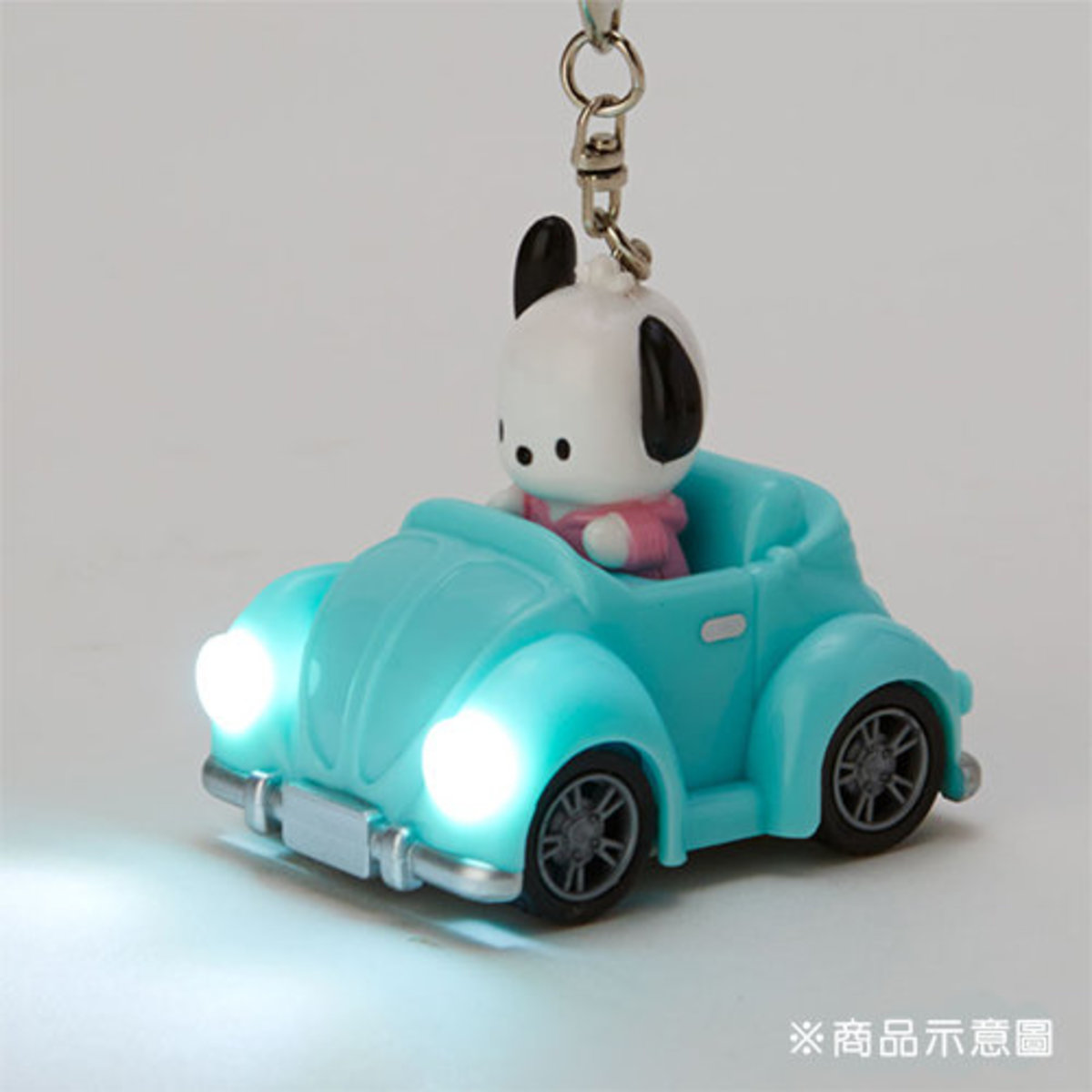 (PC 狗) 日本Sanrio可發光車頭燈鑰匙扣