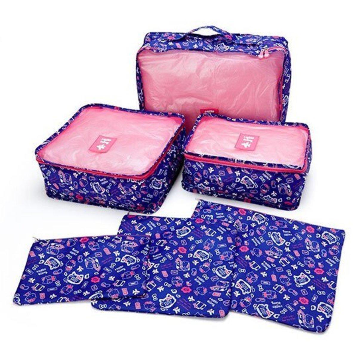 (Hello Kitty) 日本Sanrio 旅行收納袋 (1套6件) x 1套