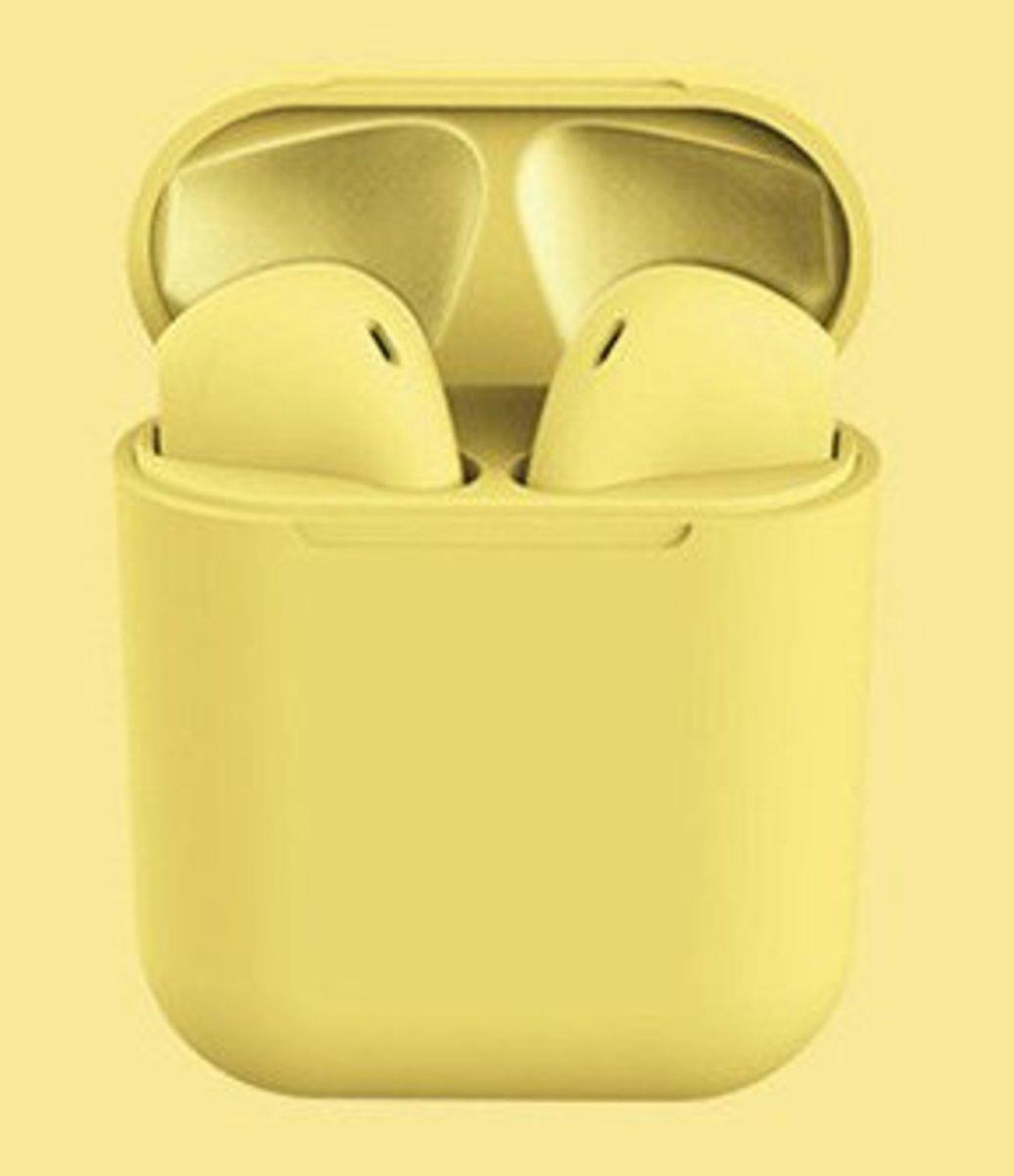 (黃色) inPods12 無線藍牙耳機 適合任何附有藍牙功能手機