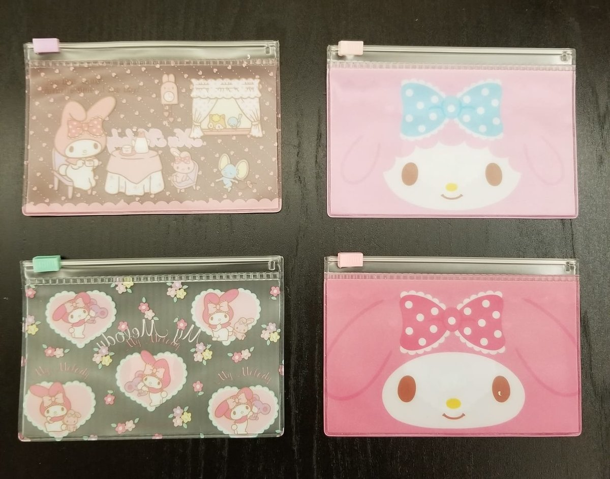(My Melody) (1套4個) 日本Sanrio 多用途拉鏈透明密實袋 x 1套