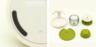 (灰色梘液刷) 創意廚房梘液刷連底座