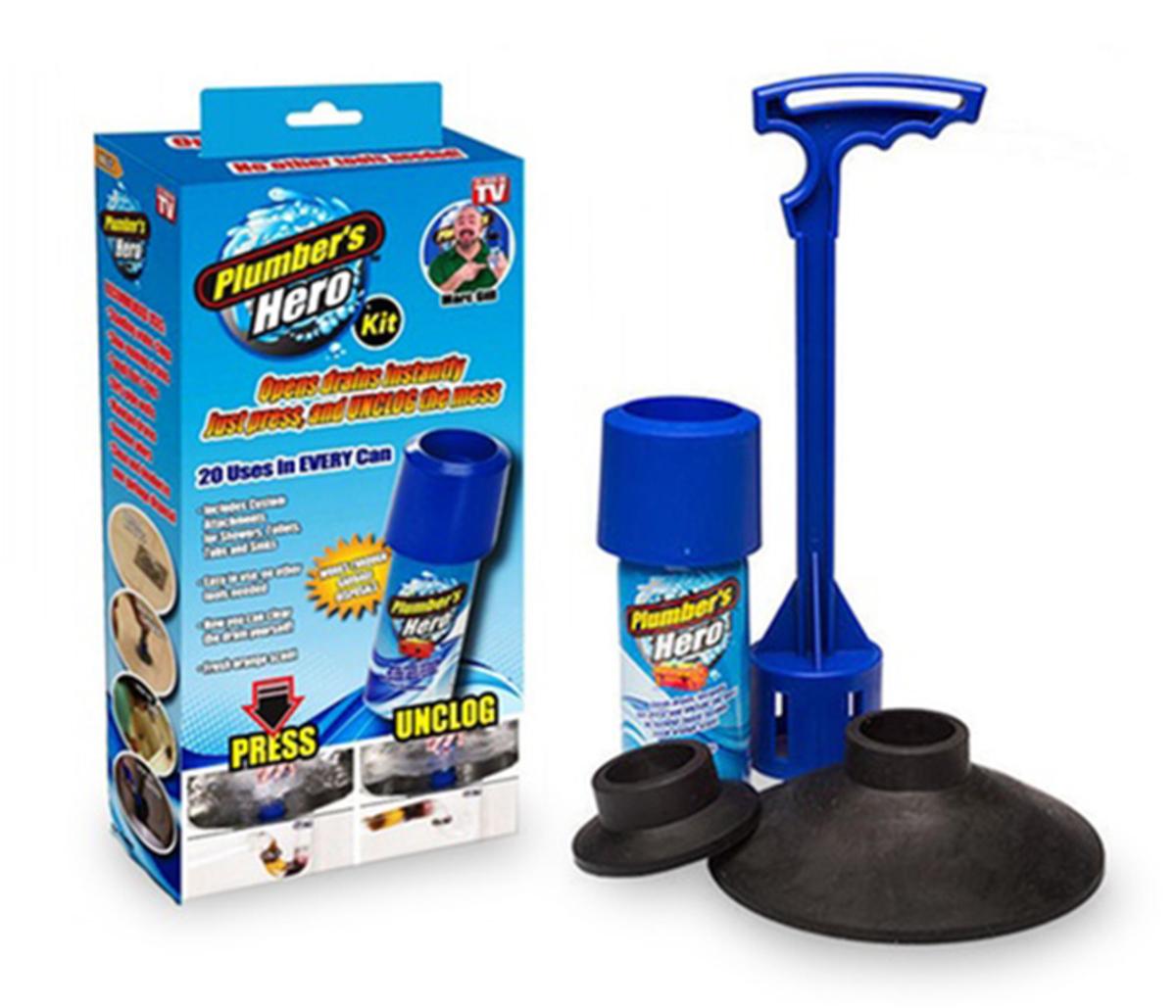 Plumber's Hero Kit - Unclog Drains Instantly
