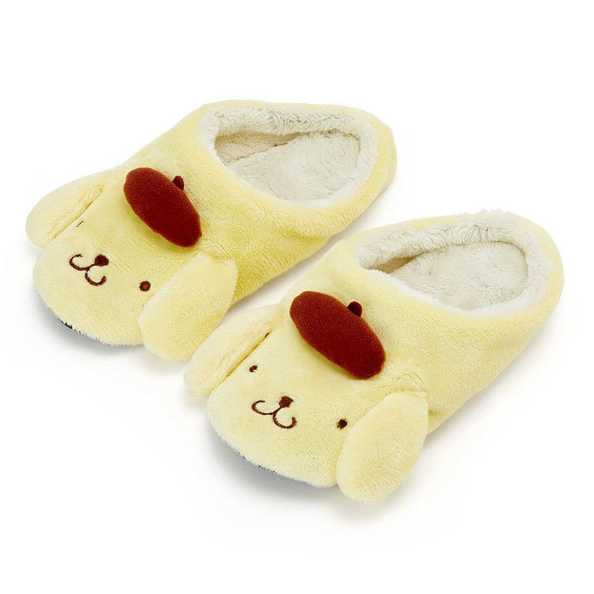 (布甸狗) 日本Sanrio可愛卡通毛毛拖鞋