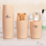(Khaki) Travel Toiletries Storage Cup x 1 Set