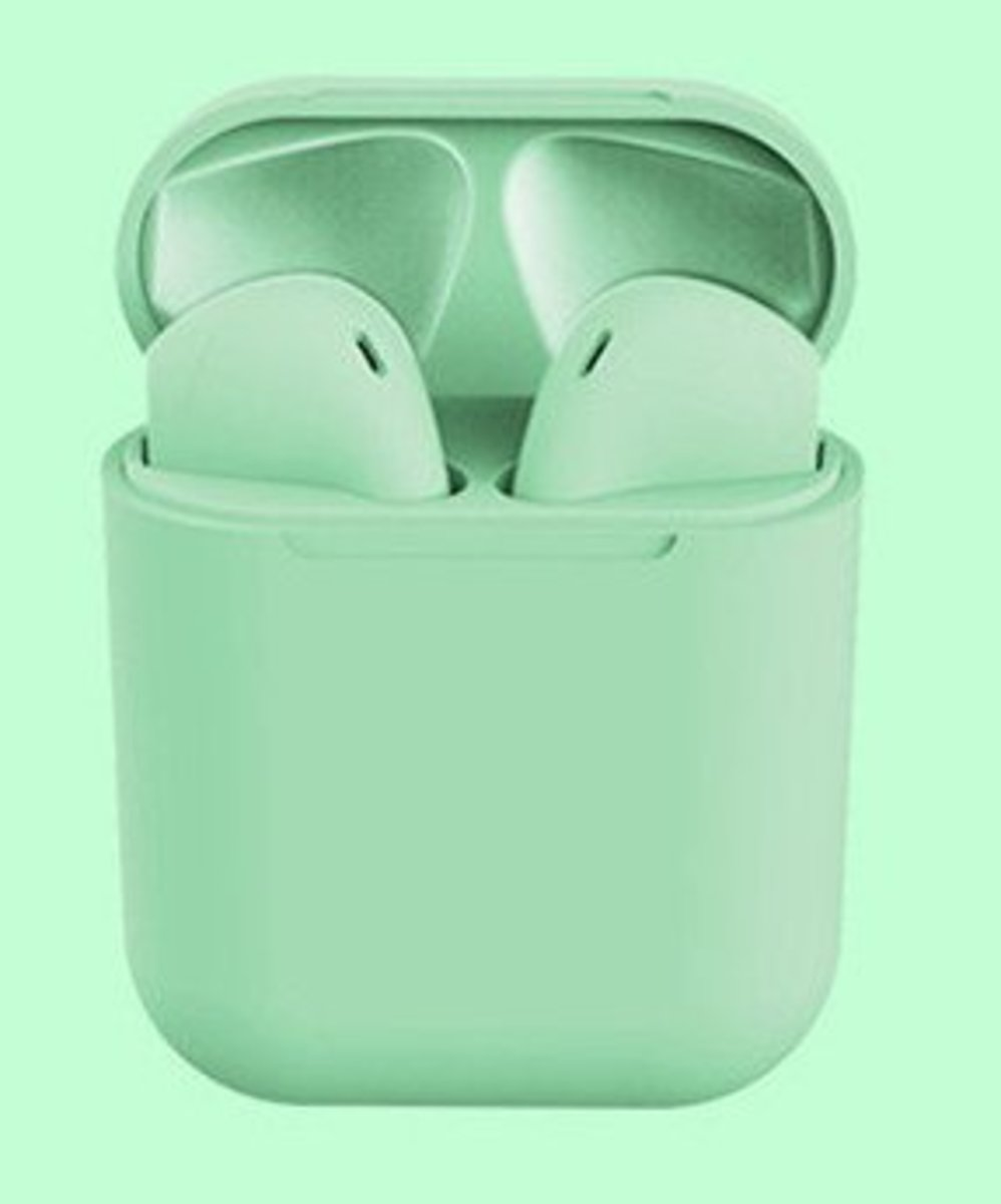 (Light Green) inPods12 Wireless Bluetooth Earphone for all Mobile Phones w/ Bluetooth Function