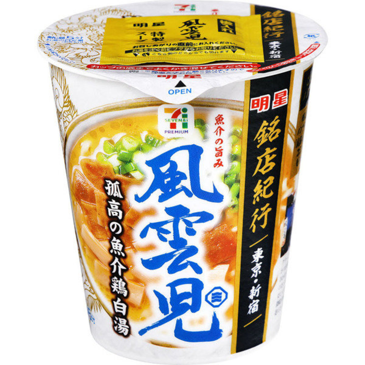 Japan Seven Premium Shinjuku Fuunji Seafood Chicken White Soup Noodles x 6pcs