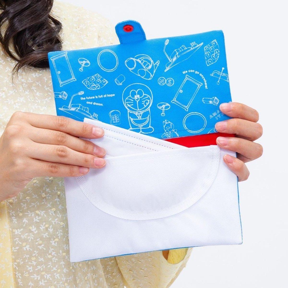 (多啦A夢百寶袋) 日本便攜口罩收納袋/防疫百寶袋