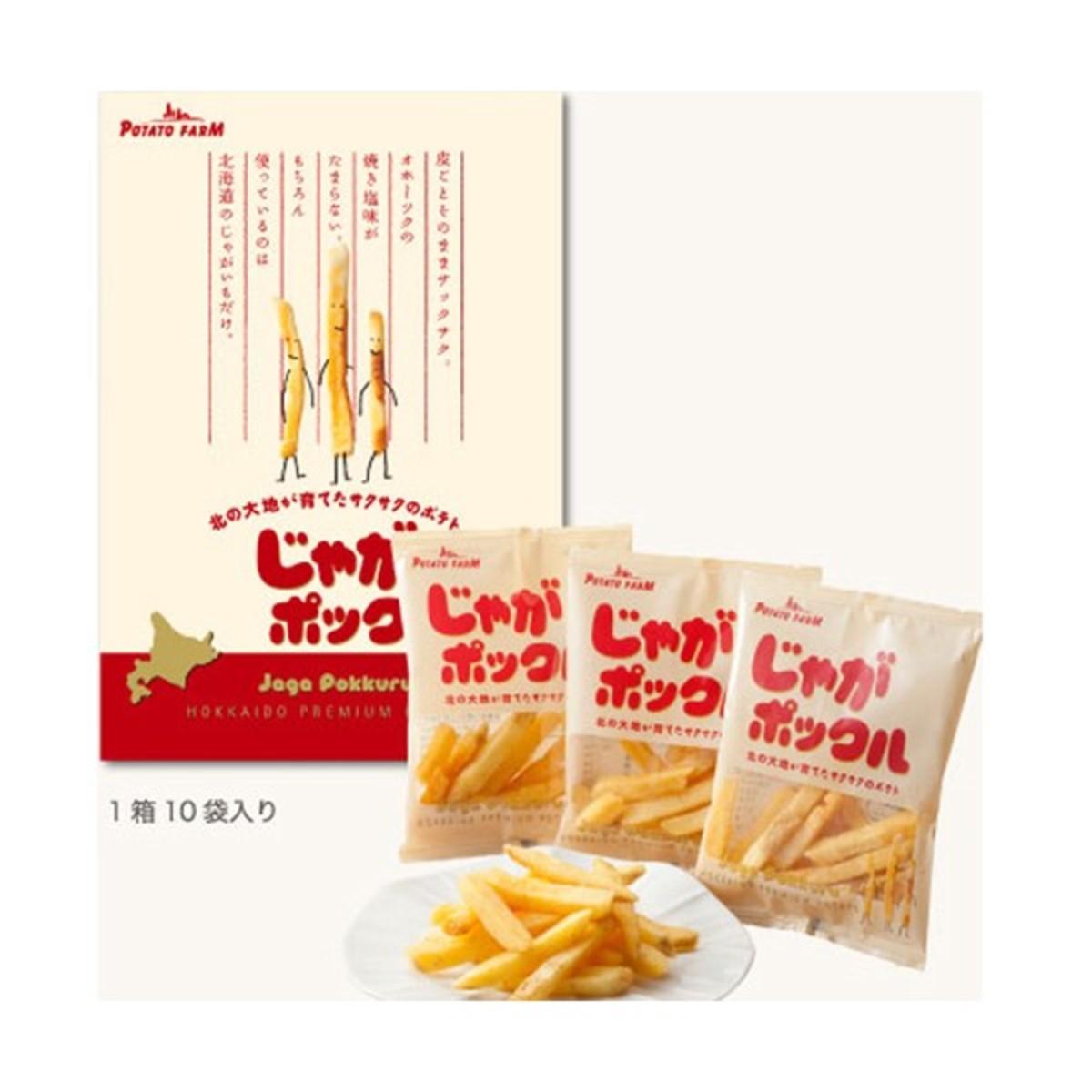 (10 Packets/Box) (Brothers) Japan Hokkaido Premium Potato-Jaga Pokkuru x 1 Box